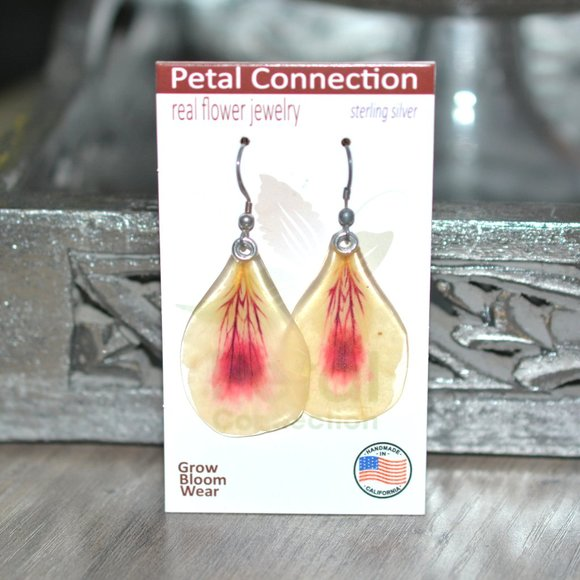 PETAL CONNECTION Sterling Geranium Flower Earrings